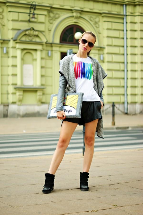 madame poupee t-shirt shorts shoes bag