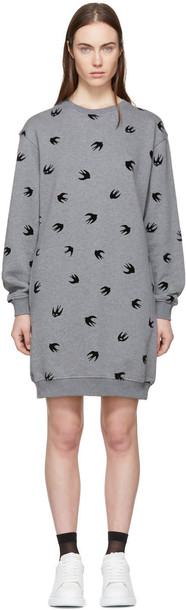McQ Alexander McQueen dress sweatshirt dress mini grey