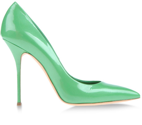 Casadei Closed Toe in Green (Light green) | Lyst