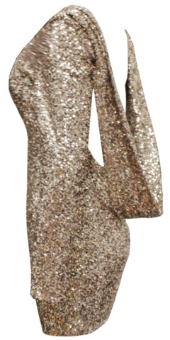 Kelley Gold Sequin Dress | RawGlitter.com