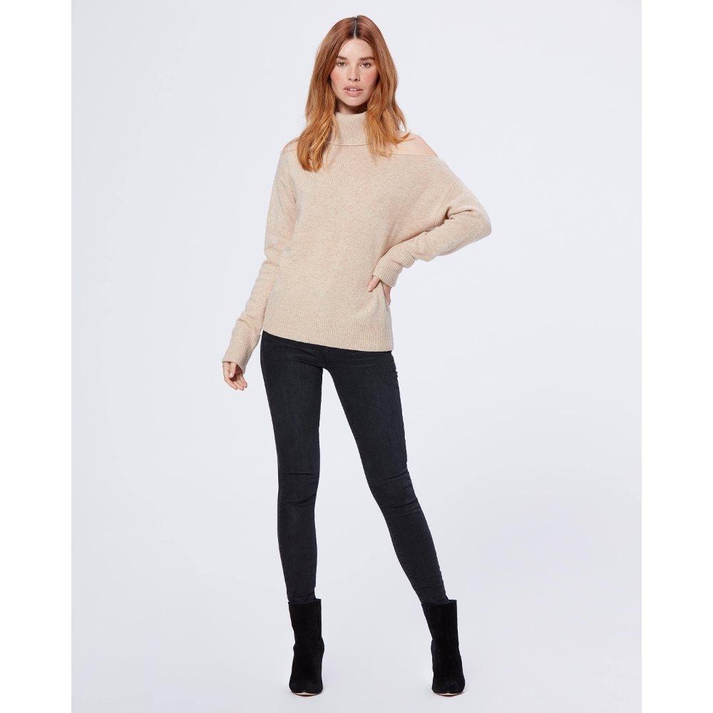 PAIGE Women's Raundi Sweater - Camel   Long Sleeves