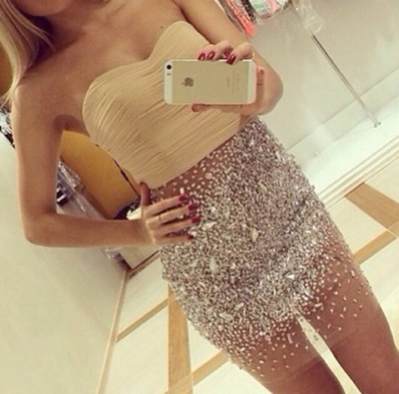diamonds iphone case dress see through top blonde hair glitter dress fashion bodycon dress bandeau style