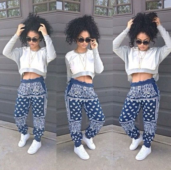 pants harem pants harem blue india love shirt bandana print india westbrooks