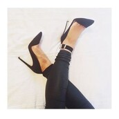 shoes,heels,buckles,leather look,leggings,style,fashion,black,white