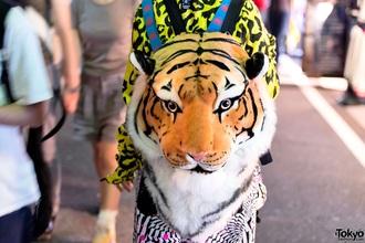 bag punk grunge backpack cool hipster punk soft grunge tiger face