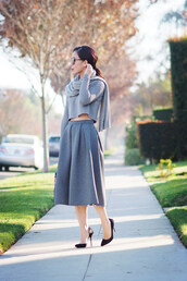 hallie daily,sweater,t-shirt,skirt,shoes,bag,scarf,sunglasses