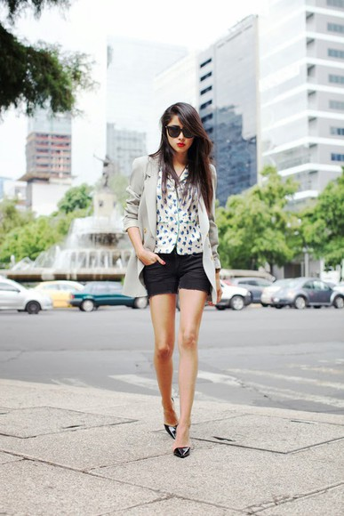 chic muse jacket shoes sunglasses