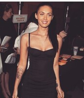 dress,megan fox,black dress,mini dress,party dress