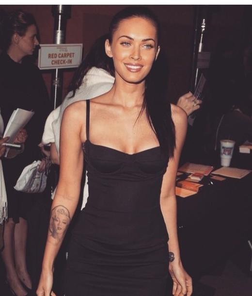 dress megan fox black dress mini dress party dress