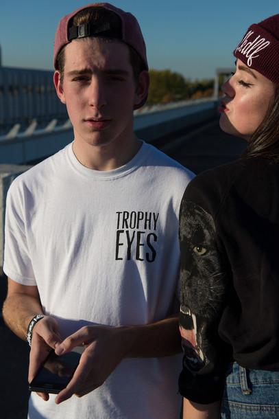 t shirt oversized t shirt shirt trophy white boy snapback