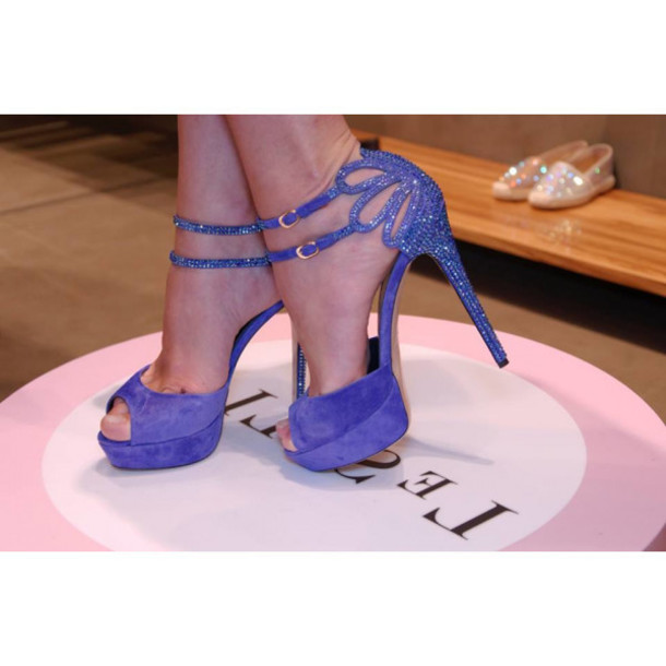 62f0973c5f01 shoes blue glitter heels high heels lavender suede pretty cool cute hot  love lovely amazing fashion
