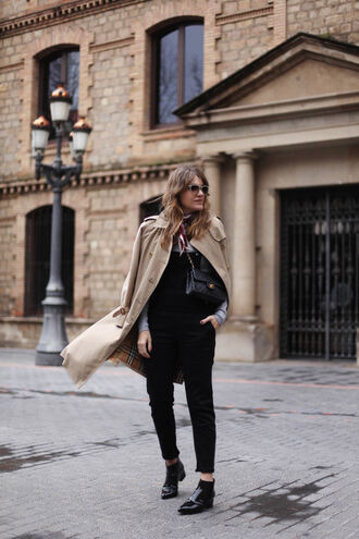 my daily style blogger coat shoes bag scarf