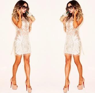 dress white cute christian louboutins white dress style fashion off-white cute dress high heels louboutin fancy dress fancy christian louboutins heels cute high heels