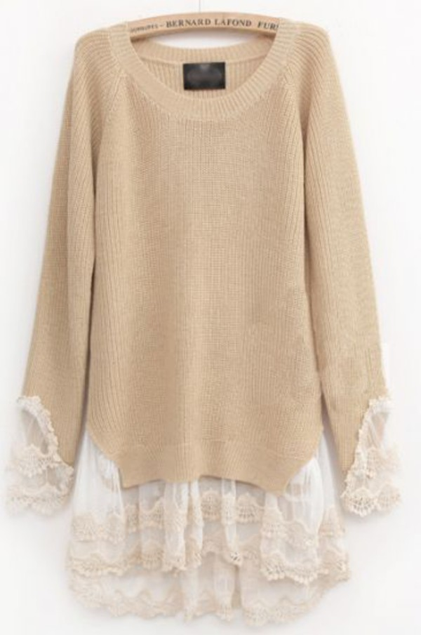 jumper beige old sweater