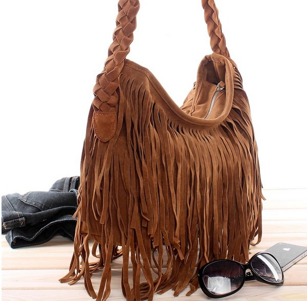 Tassel Celebrity Fringe Shoulder Messenger Cross Body Bag Handbag on Luulla