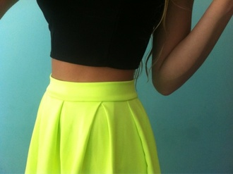 skirt yellow skirt