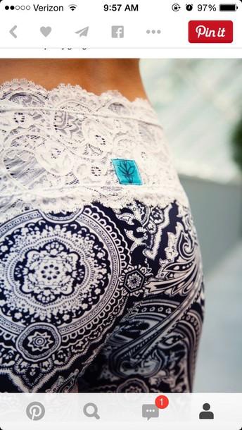 leggings lace on top leggings