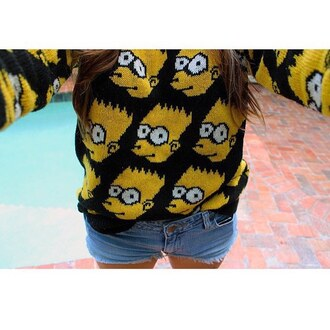 sweater bart simpson cartoon
