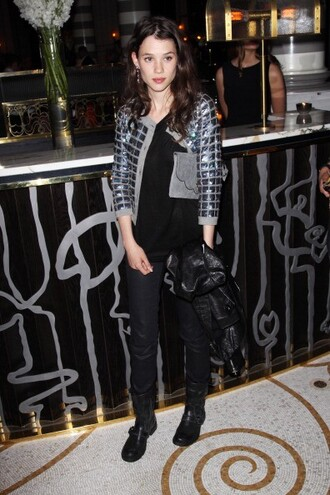 metallic grey astrid berges frisbey jacket