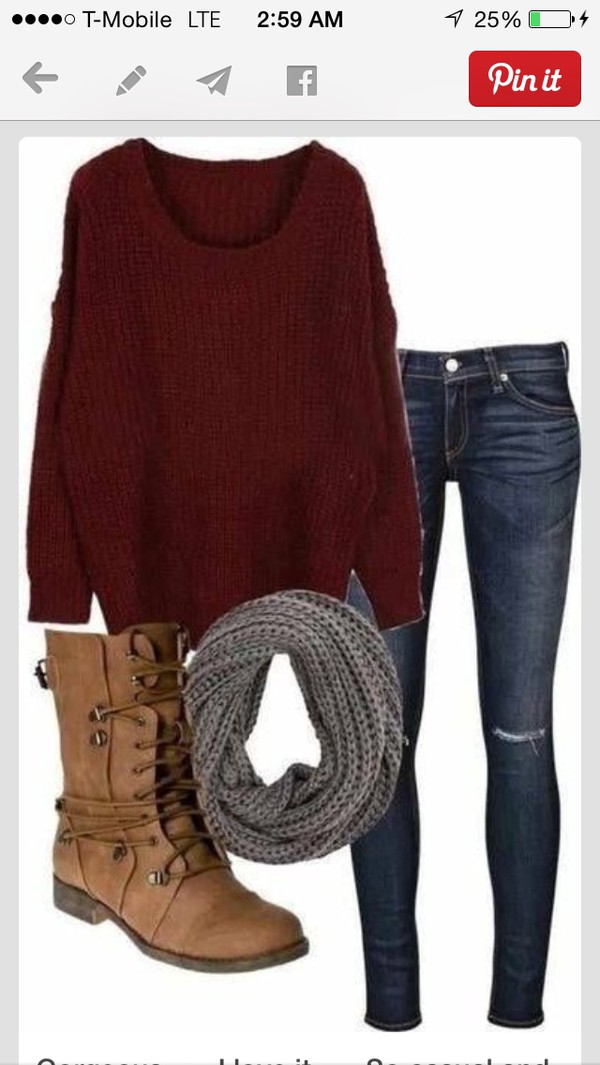 shoes tan boots combat boots burgundy jeans scarf warm