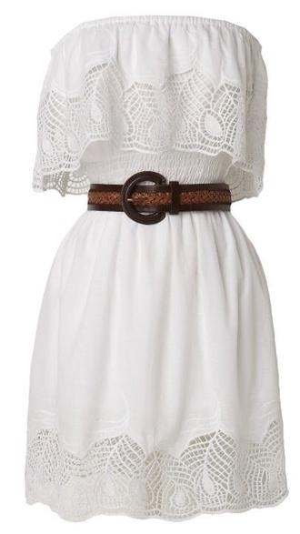 dress sundress leather belt white dress