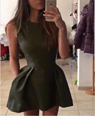 dress olvie mini dress green dress
