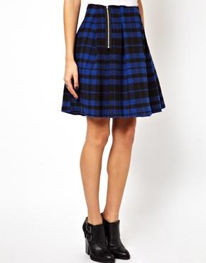 ASOS | Minifalda con cuadros escoceses y cremallera lateral de ASOS en ASOS