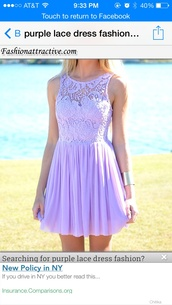 dress,purple lace casual spring
