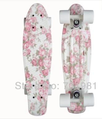 home accessory skateboard floral cute penny board