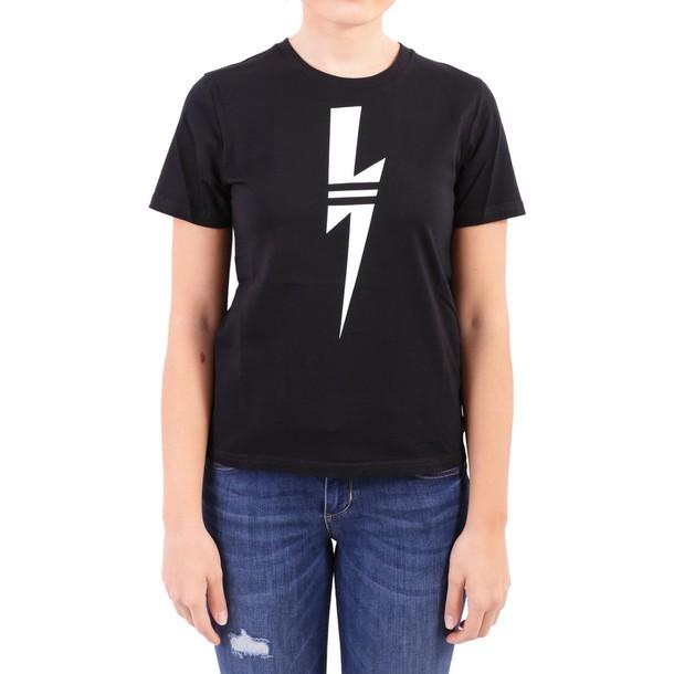neil barrett t-shirt shirt cotton t-shirt t-shirt cotton black top