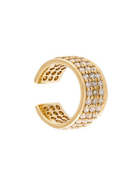 SARAH NOOR cuff women ear cuff gold yellow grey metallic jewels