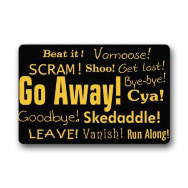 Home Accessory Door Mat Funny Dope Swag Go Away