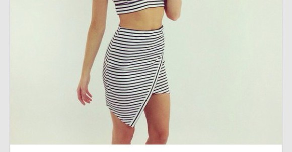 skirt striped skirt stripes hipster dope instagtam indie assymetrical