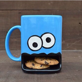 home accessory cookie monster tea cup yummy mug kitchen