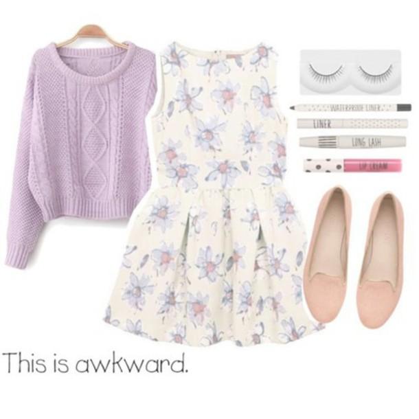dress floral dress white