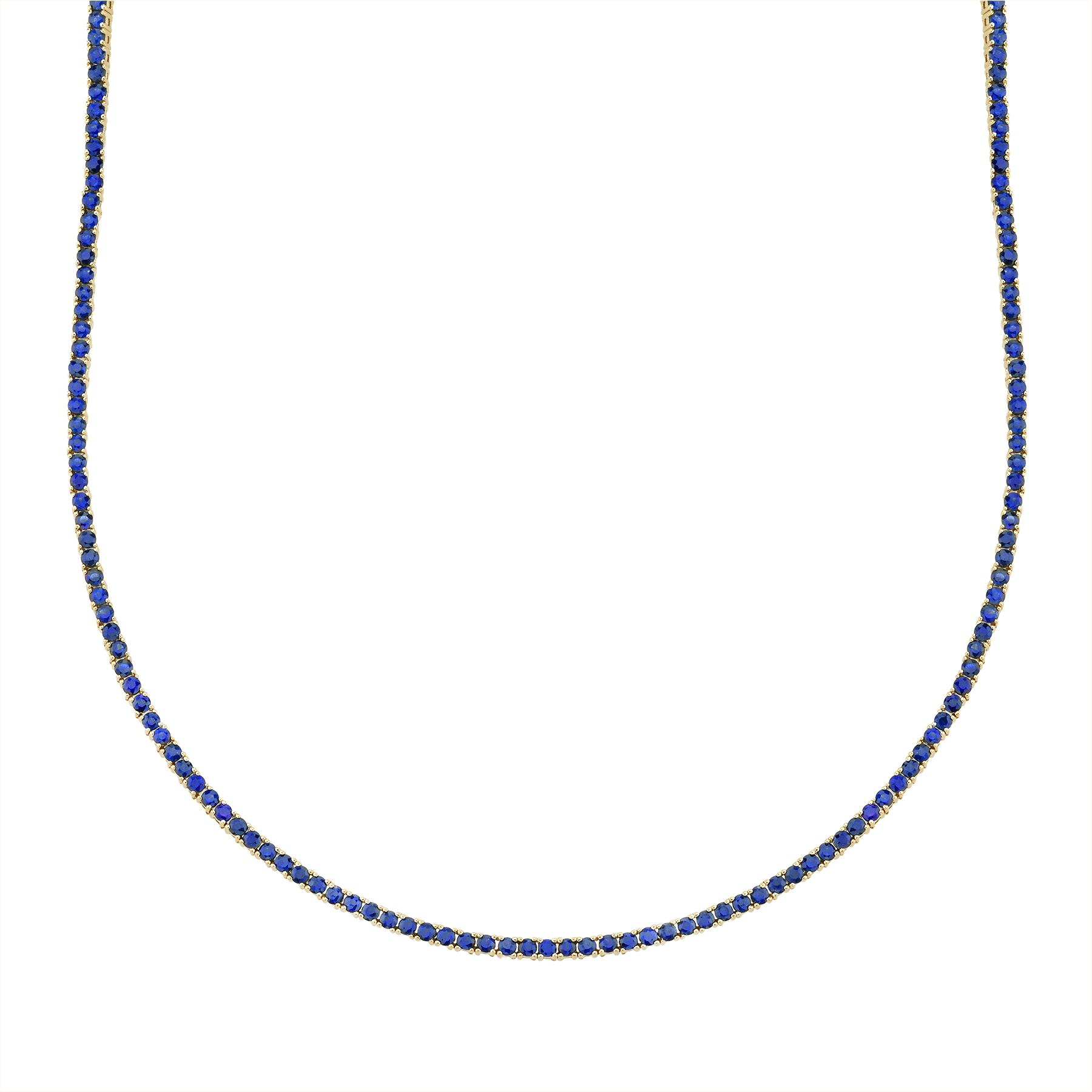 PERFECT BLUE SAPPHIRE COLLAR TENNIS NECKLACE