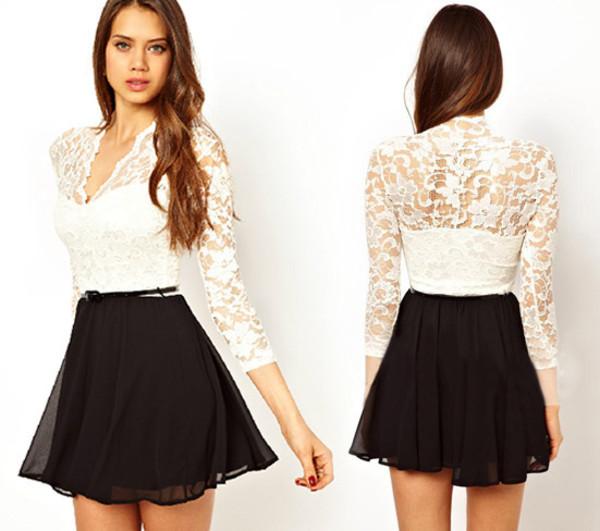 skirt clothes lace dress black dress white dress