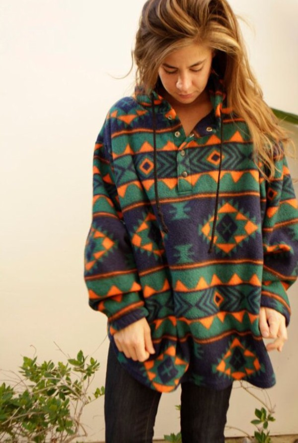 jacket aztec oversized sweater