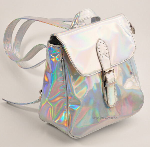 bag holographic rainbow colorful