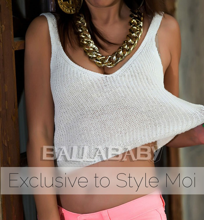 Open Knit Cropped Vest
