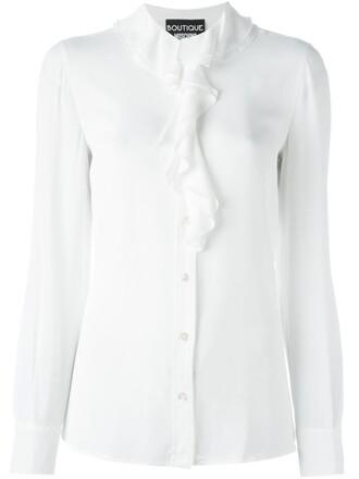 shirt ruffle white top