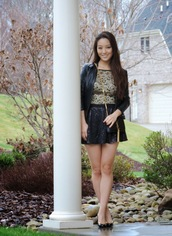 sensible stylista,blogger,mini skirt,party outfits,top,jacket,skirt,jewels,shoes,bag,sunglasses