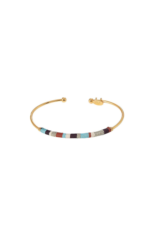 Gas Bijoux 24kt Gold Plated Zanzibar Bangle Bracelet