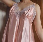 blouse,pink,satin,silk,lace,nightie,loose,hipster,silk sleepwear,soft grunge,alternative,thrift
