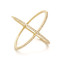 Ef collection pave gold diamond x ring - yellow gold/clear