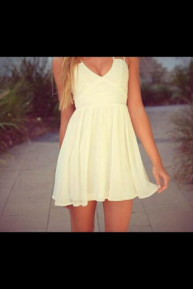 nice ivory dress casual dress summer dress creme summer outfits
