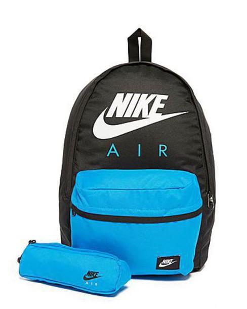 bag nike backpack school bag blue black white