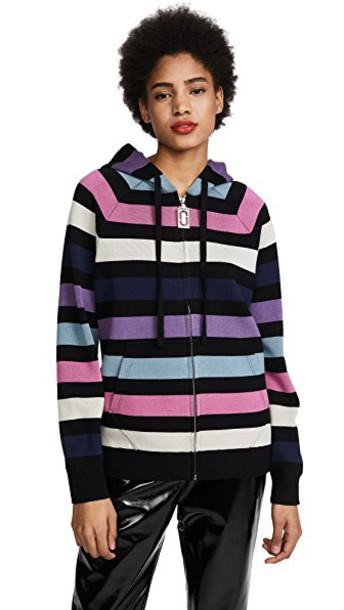 Marc Jacobs hoodie long zip pink sweater