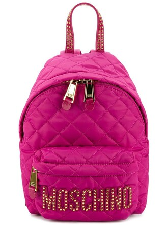 mini quilted backpack mini backpack purple pink bag