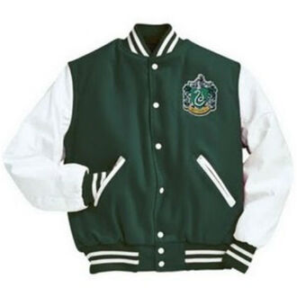 jacket slytherin varsity jacket harry potter